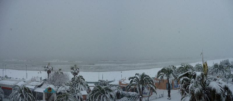 Neve a San Benedetto, 4 febbraio 2012 foto di Marco
