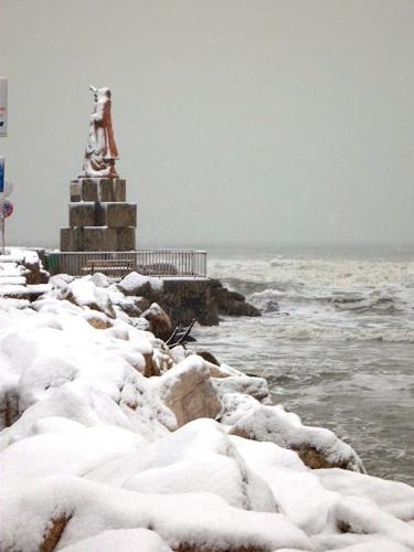 Neve a San Benedetto, 7 febbraio 2012 foto Ubaldo Maurizi 1