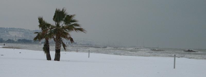 Neve a San Benedetto, 7 febbraio 2012 foto Zazzetta