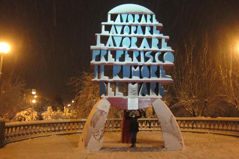 Neve a San Benedetto del Tronto, 3 febbraio 2012 foto di Andrea Sanguigni 3