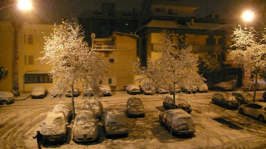 Neve a San Benedetto, notte del 3 febbraio (ilaria core)