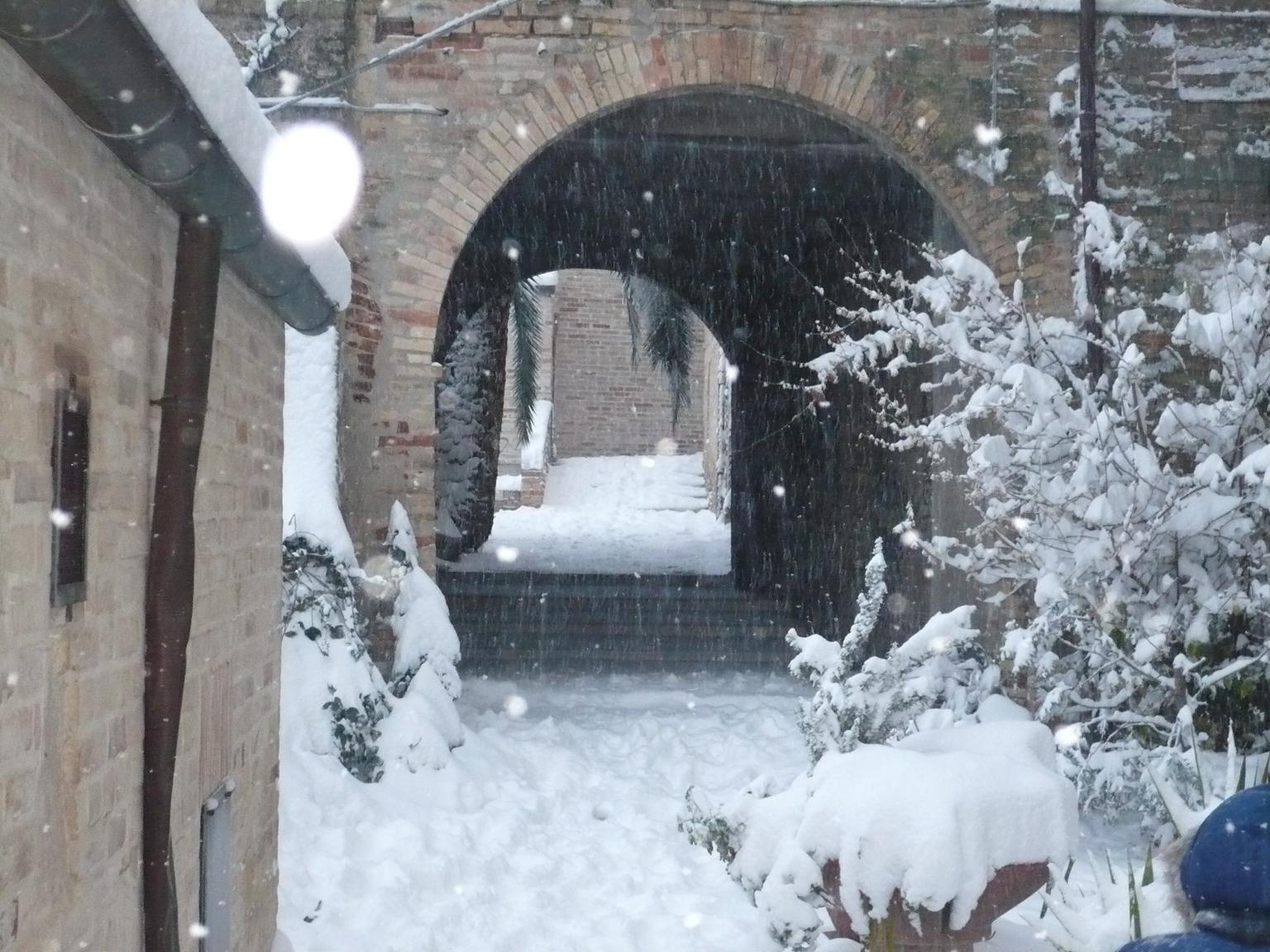 Neve ad Acquaviva, 4 febbraio 2012 foto di Luciano Narcisi 1