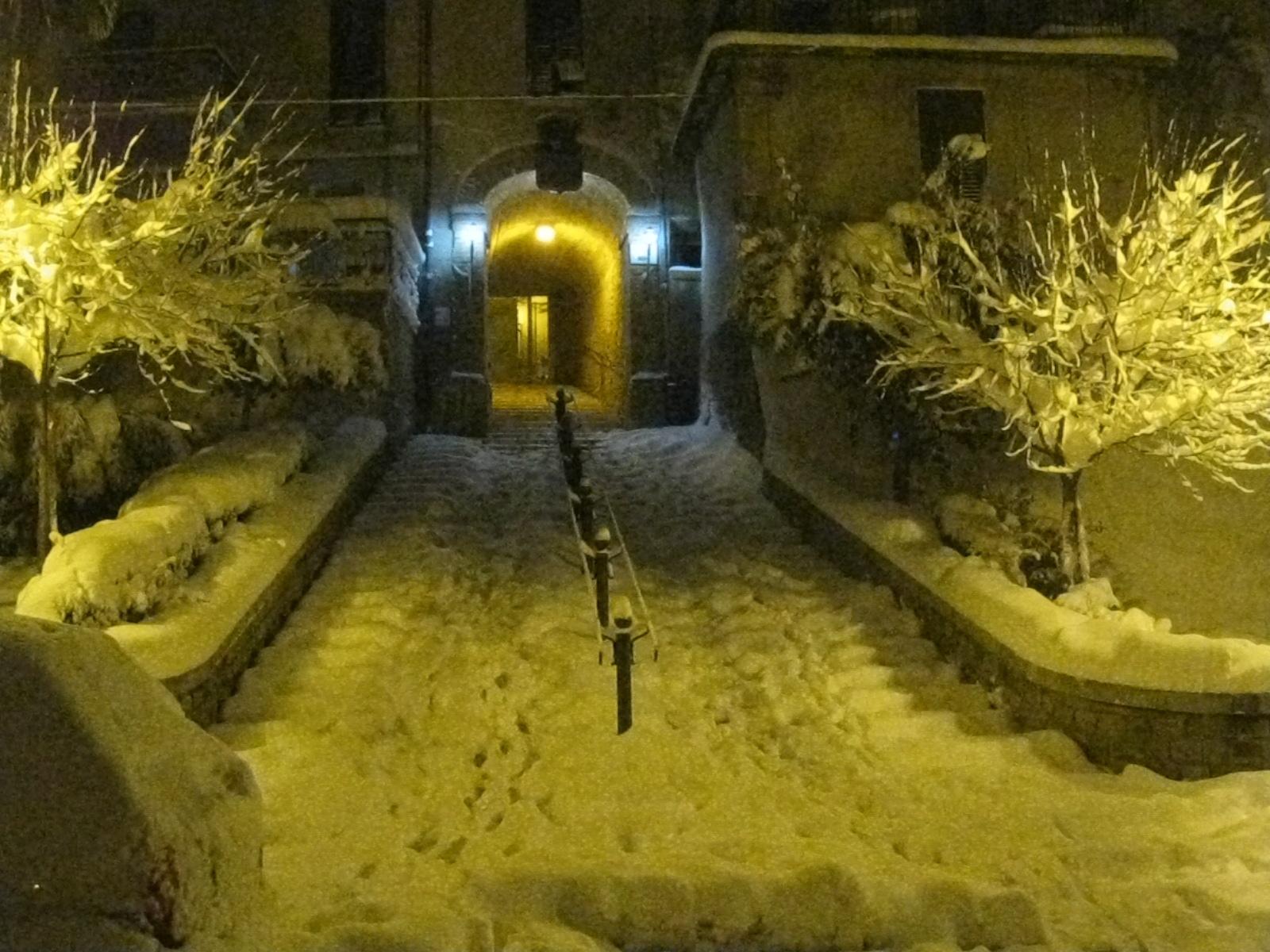 Neve ad Ancarano, 3 febbraio 2012 foto di Simone Marchetti