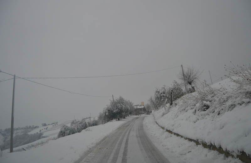 Neve al Trivio di Ripatransone, 3 febbraio 2012