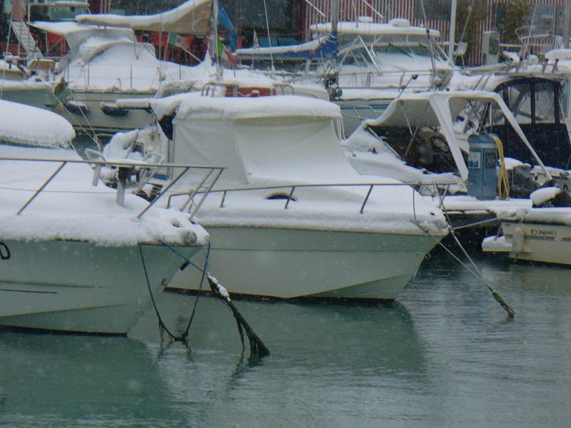 Neve al porto di San Benedetto, 7 febbraio 2012 foto di Emanuele Bani 2