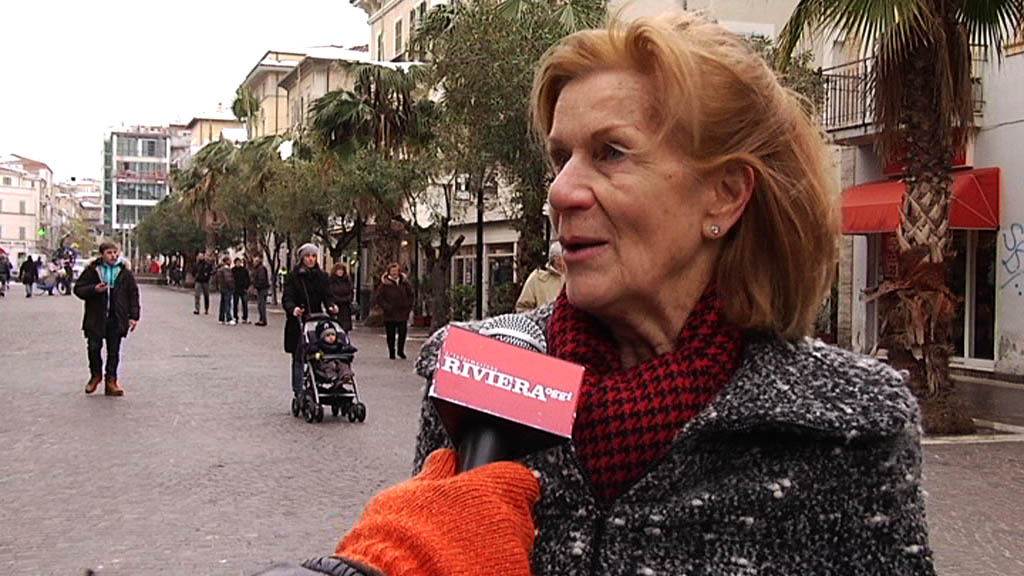 Neve febbraio 2012, una signora originaria del nord critica la gestione dell'emergenza a San Benedetto