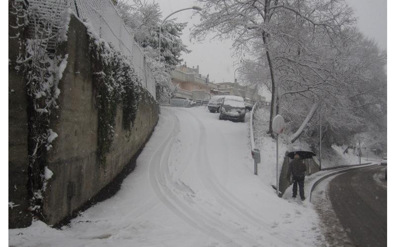 Neve in via Cilea