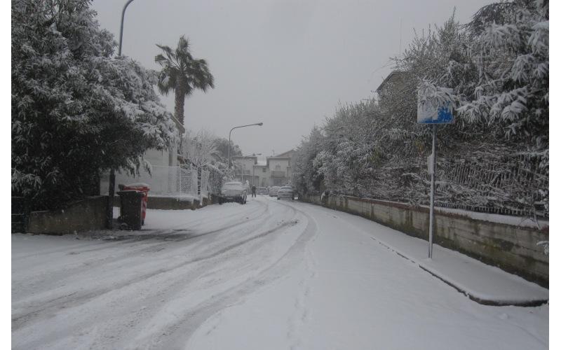Neve in via E. Fermi