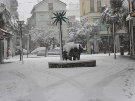Neve monumento Elefantino di Salvo, 3 febbraio (Maria Paola Salzano, San Benedetto) 1