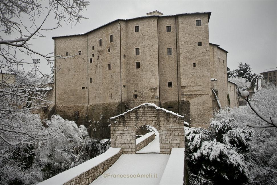 Neve su Ascoli 3 febbraio, Forte Malatesta (Ameli)