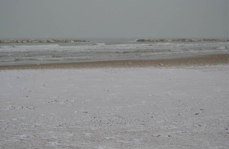 Neve sulla spiaggia di San Benedetto, 3 febbraio 2012 4