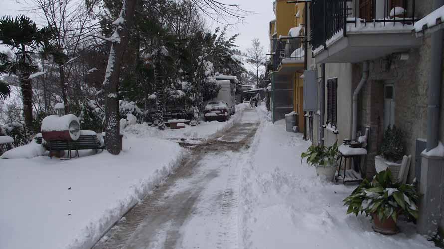 Offida, neve 6 febbraio, Enrica Capriotti