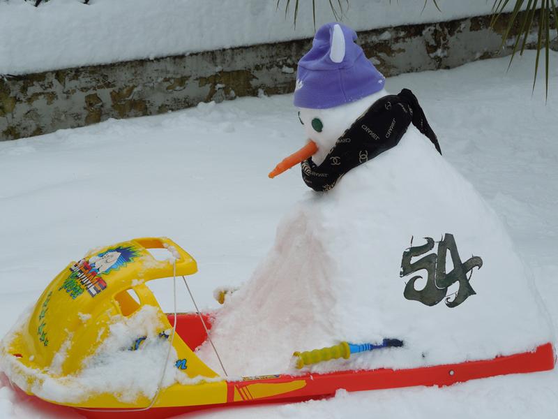 Pupazzo di neve chalet 54 San Benedetto del Tronto, foto di A.F.