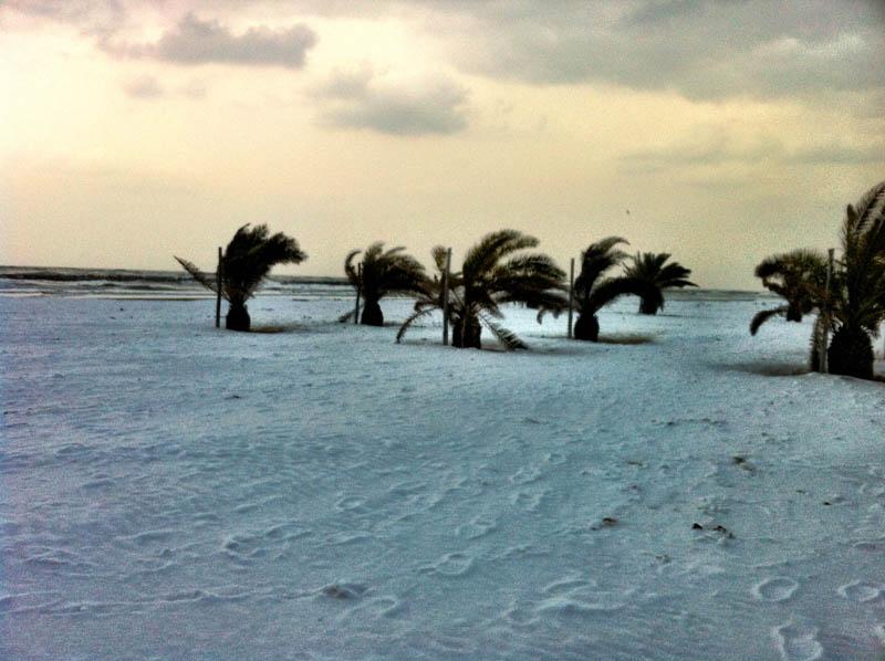 Neve a Porto d'Ascoli 7 febbraio 2012 foto Silvia Basili 3