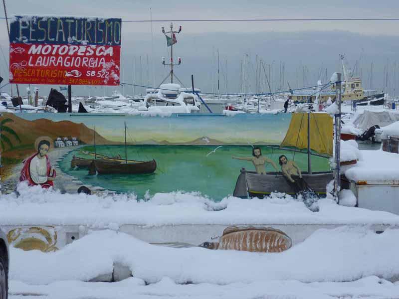 Foto della neve di Francesco Di Biagio, il porto