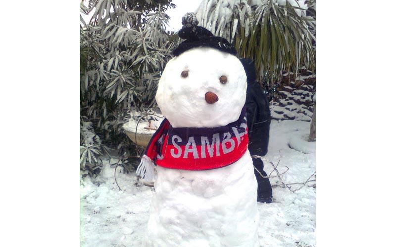 Pupazzo di neve Ultra Samb, 3 febbraio 2012