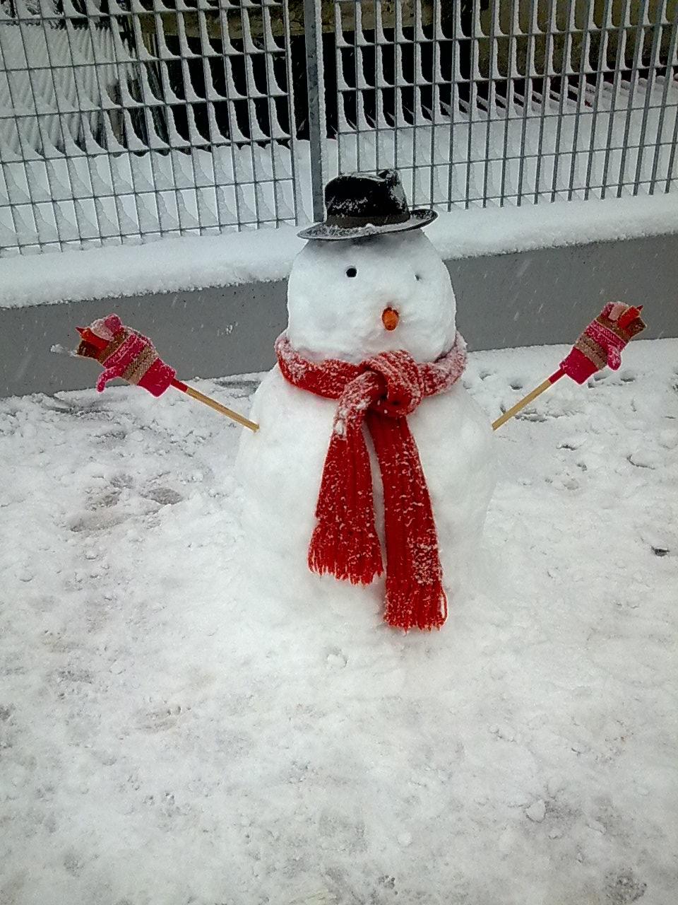 Pupazzo di neve a Pagliare, 3 febbraio 2012, Selene