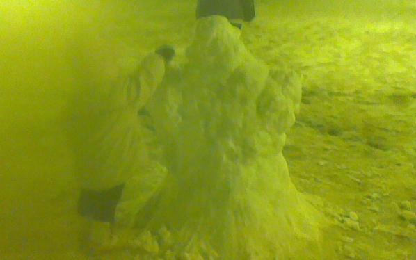 Pupazzo di neve con bimbo in Piazza Carducci, Grottammare, 3 febbraio (Flavio Mignucci)
