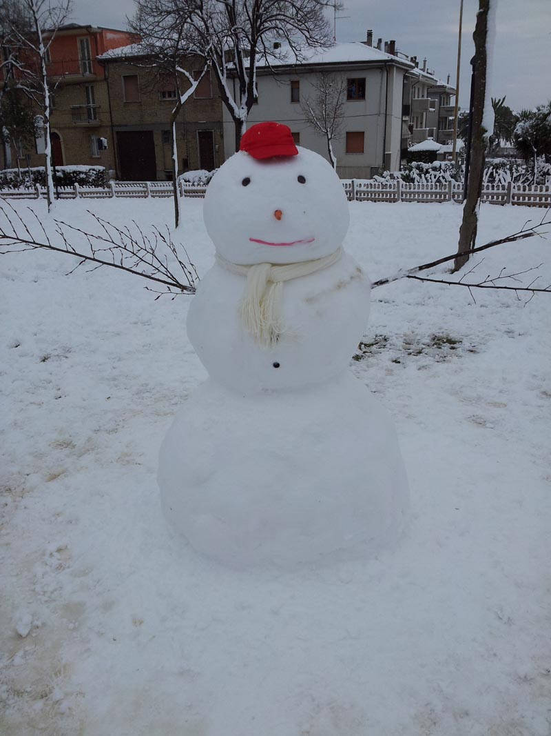 Pupazzo di neve, febbraio 2012, Morganti Service
