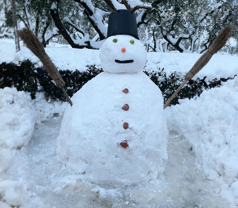 Pupazzo di neve in Valtesino, 4 febbraio, Katia Ferracuti