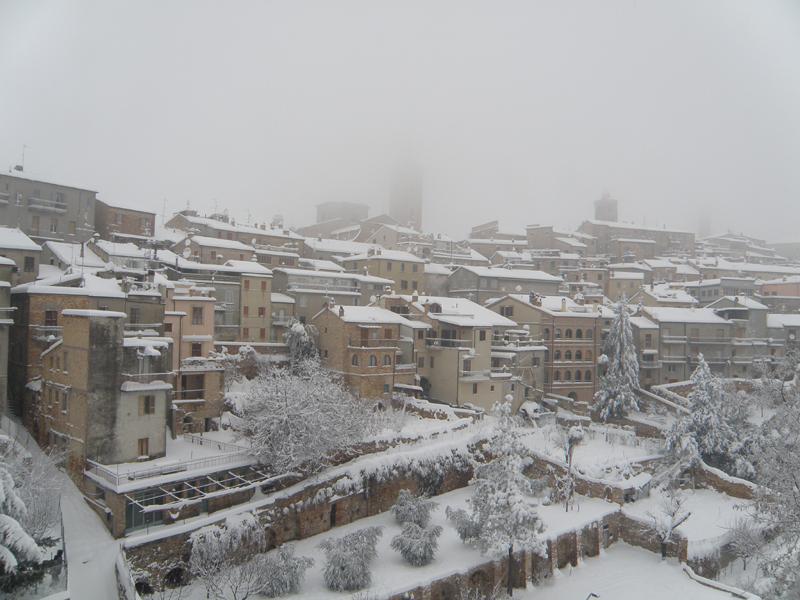 Ripatransone nella neve, 5 febbraio, foto di Elena Ciccarelli 2