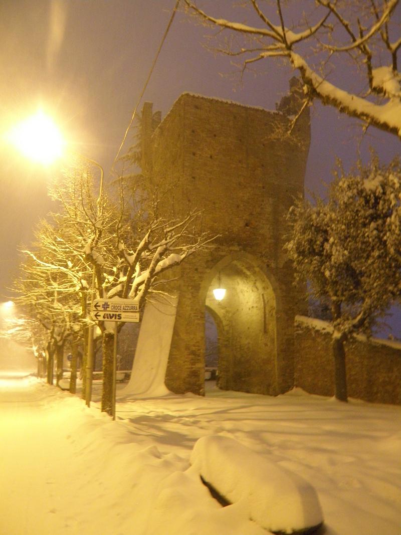 Ripatransone nella neve, 5 febbraio, foto di Elena Ciccarelli 3