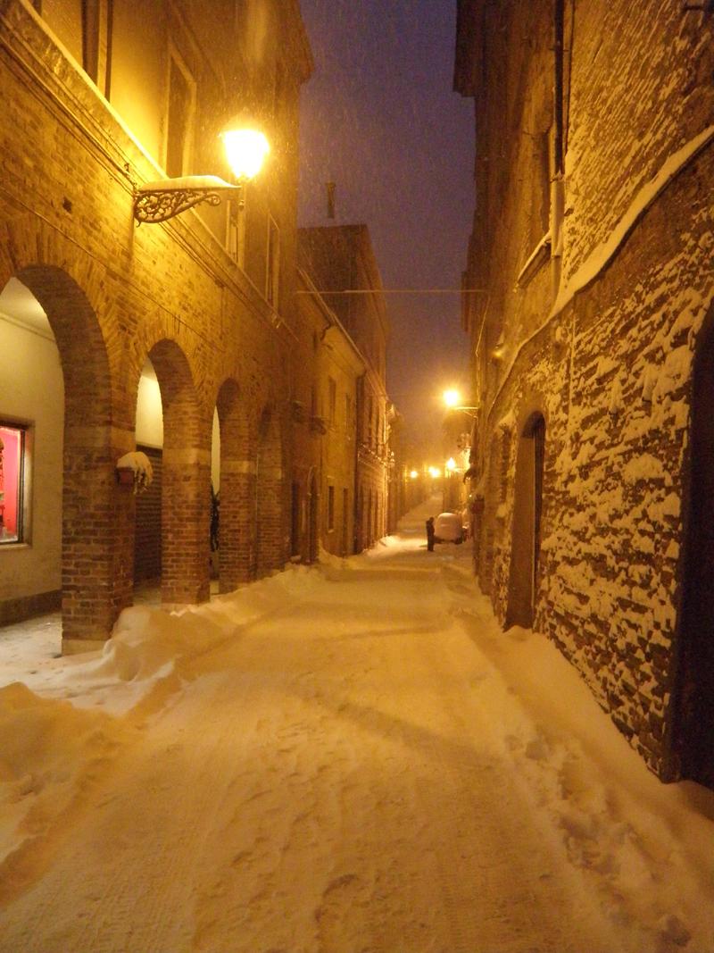 Ripatransone nella neve, 5 febbraio, foto di Elena Ciccarelli 1