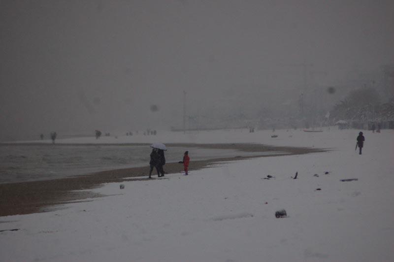 Roberto Bartolomei, neve 3 febbraio, spiaggia di San Benedetto