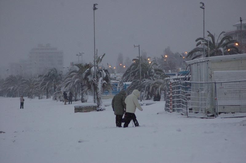 Roberto Bartolomei, neve su San Benedetto 3 febbraio 2
