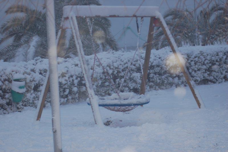 Roberto Bartolomei, neve su San Benedetto 3 febbraio altalena