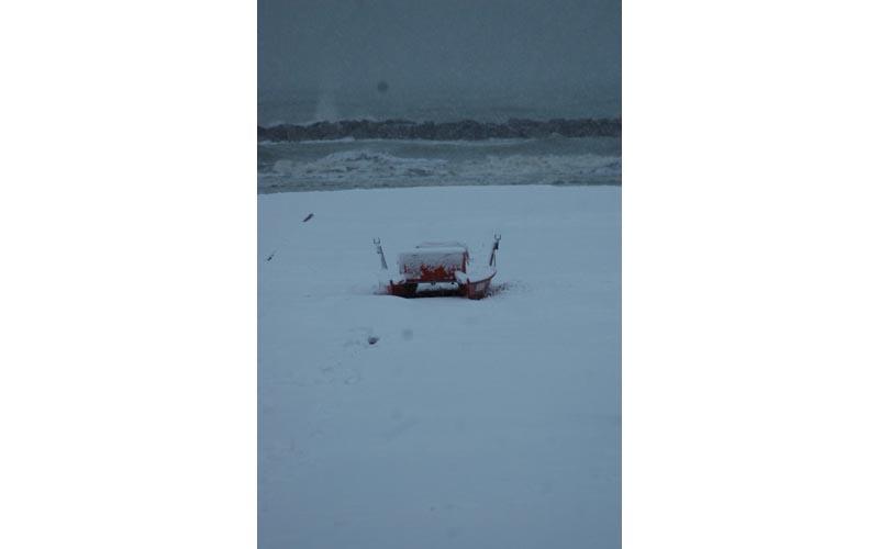 Roberto Bartolomei, neve su San Benedetto 3 febbraio pattino solitario