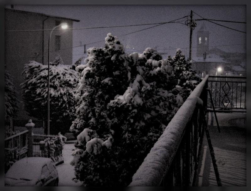 Neve a San Benedetto del Tronto, paese alto, 3 febbraio (Antonella Valentini)