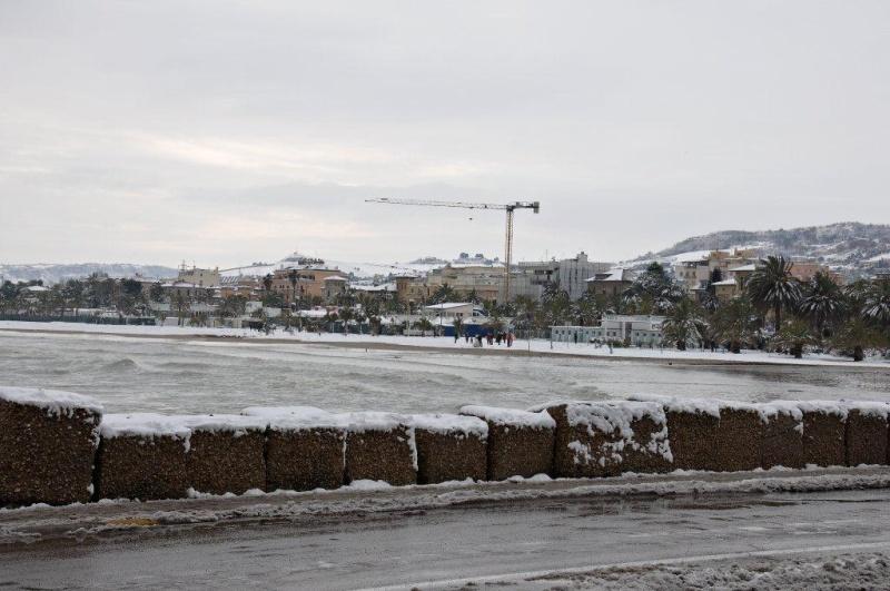 Neve a San Benedetto, 4febbraio (Renato Speziali)