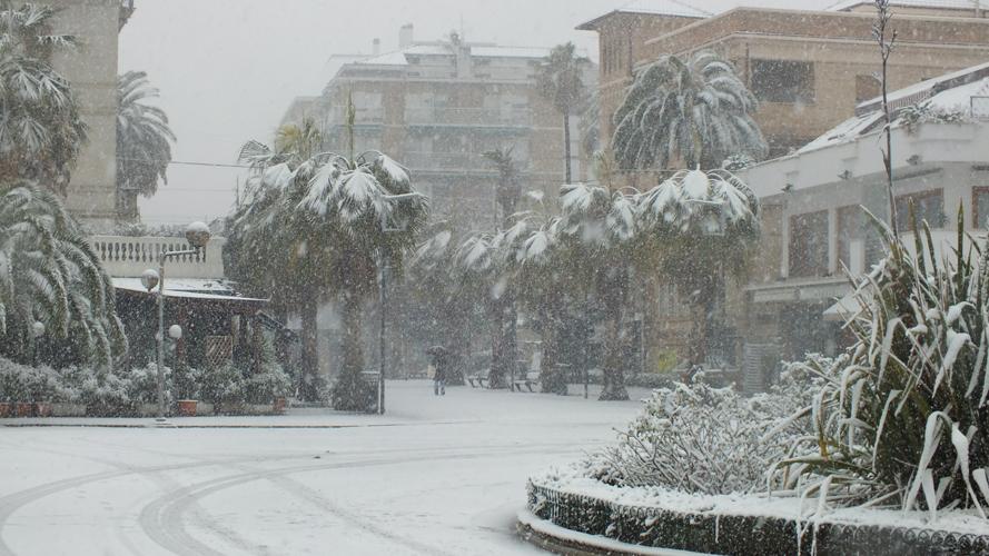 San Benedetto, neve 3 febbraio 2012, foto Dante Consorti