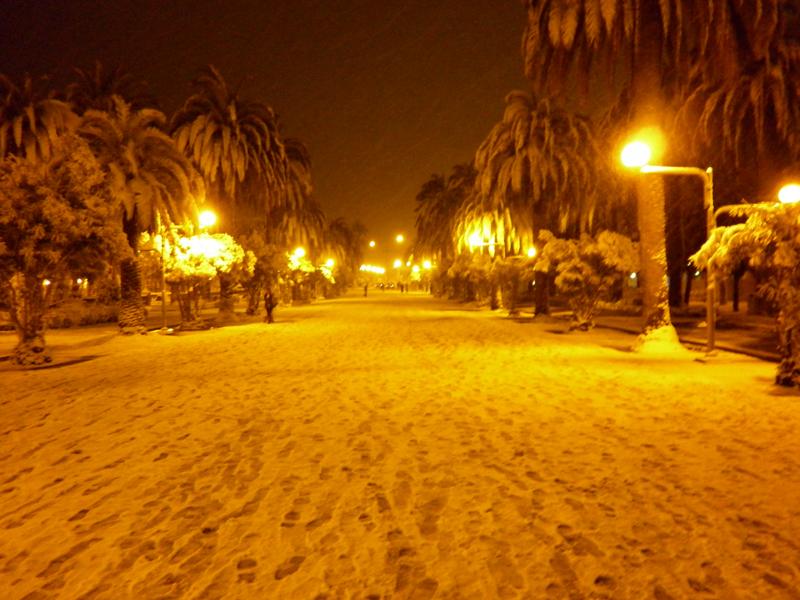 San Benedetto, neve febbraio 2012, il corso (serena stella spina)