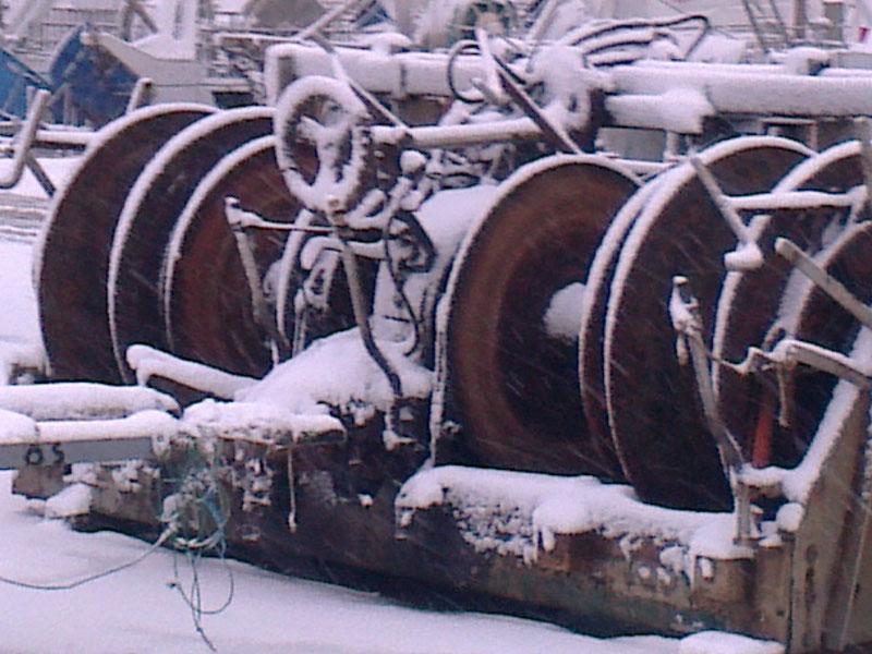 San Benedetto, neve febbraio 2012,il porto