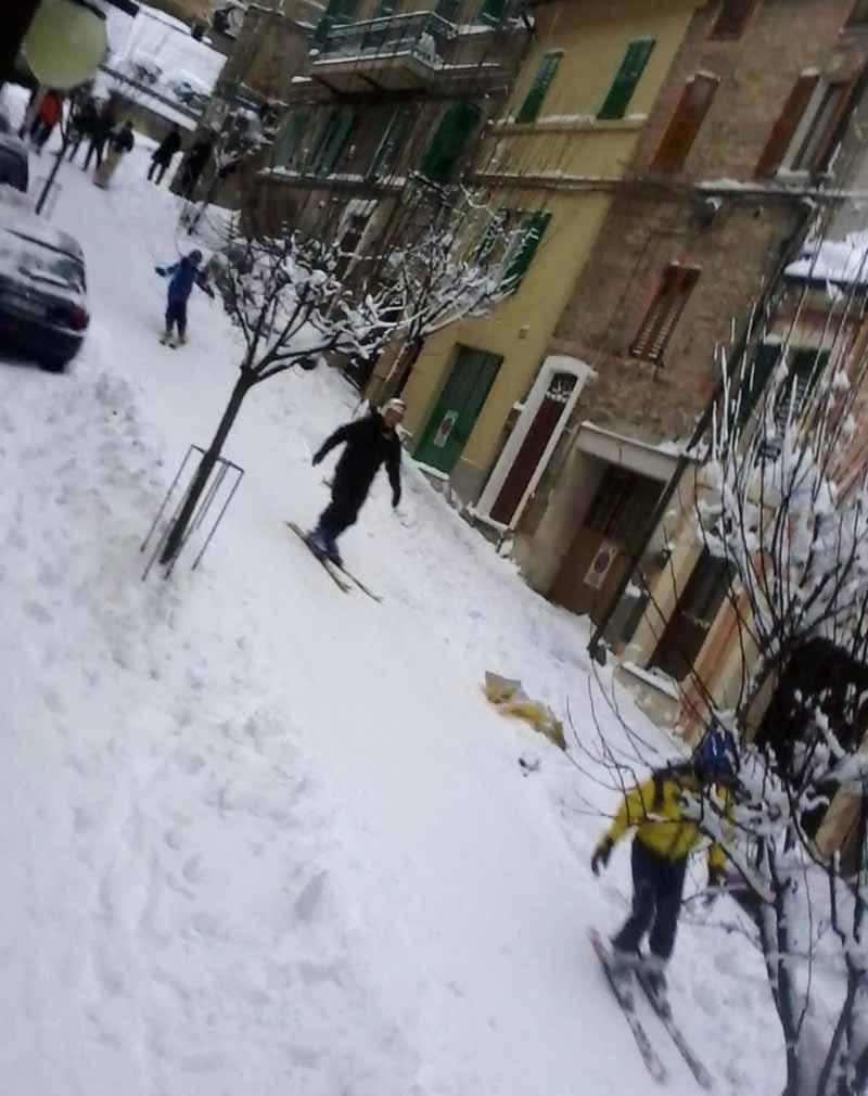 Sciare a Macerata, 6 febbraio, foto di Maria Luisa Franchino