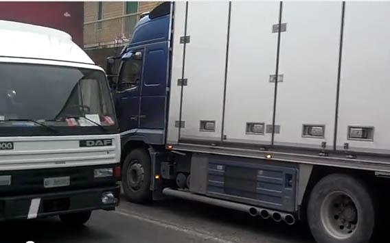 Traffico pesante sulla Statale 16, 2 febbraio 2012