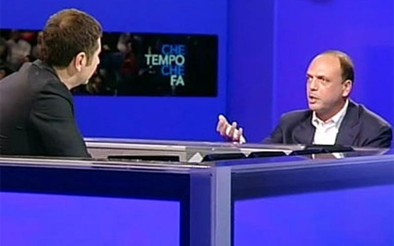 Fabio Fazio e Angelino Alfano