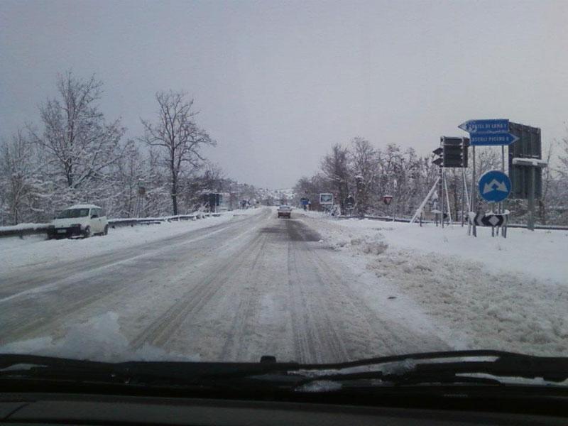 Neve ad Ancarano febbraio 2012
