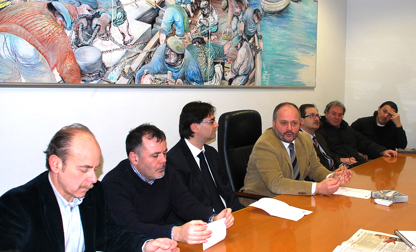Emergenza neve, conferenza stampa, tra i presenti D'Angeli, Pignotti, Gaspari