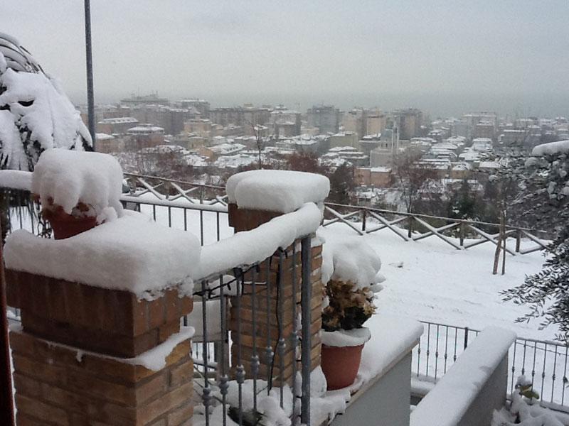 Neve in Riviera 3 febbraio 2012