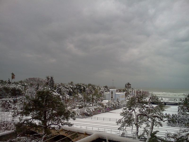 5 febbraio, foto neve da Gasparrini