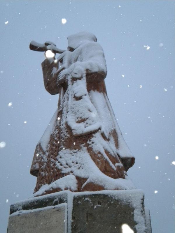 La neve a San Benedetto, vista attraverso uno scatto di Giuseppe Fabiani