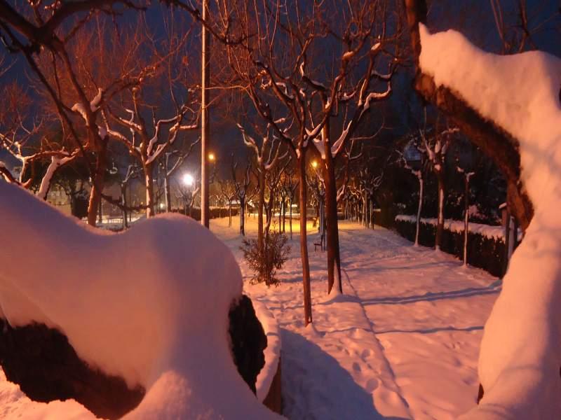 5 febbraio, neve a Martinsicuro