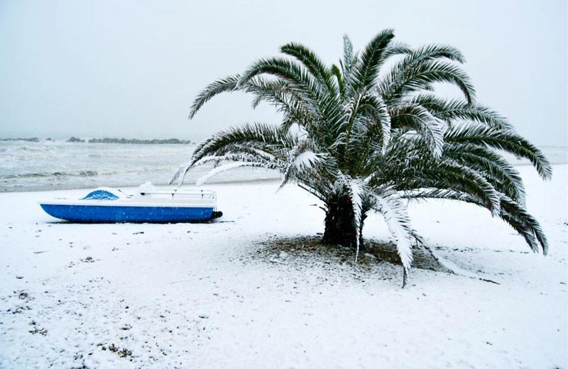 Neve a Martinsicuro 3 febbraio 2012 (Matteo Bianchini)