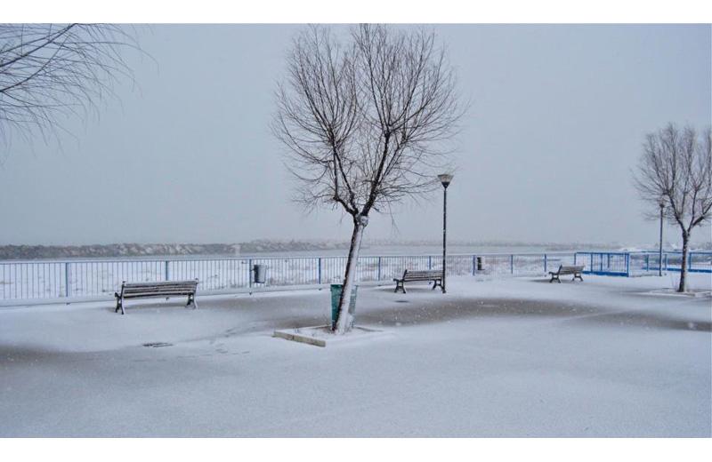 Neve a Martinsicuro 3 febbraio 2011 (Matteo Bianchini)