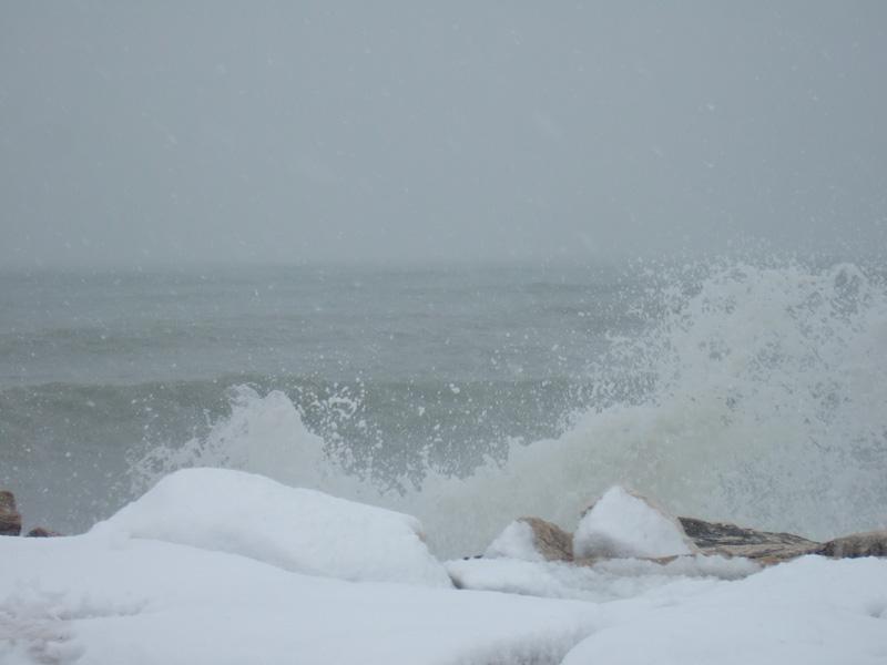 Neve al molo sud, 4 febbraio 2012 (Patrizio)