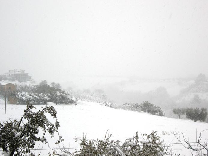 neve sulle colline di cupra marittima