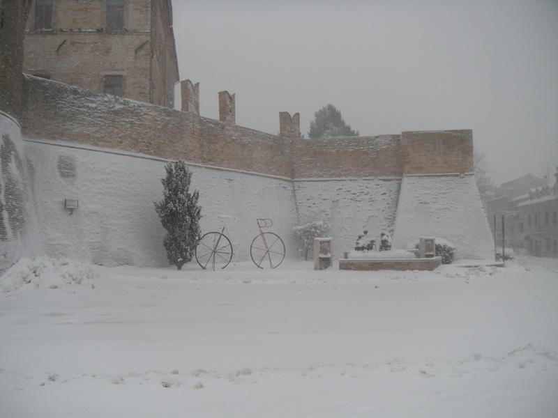 5 febbraio 2012. Offida e la neve visti da Cesare Gasparrini